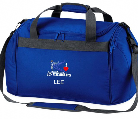 Personalised I LOVE GYMNASTICS Bag Male Boys Mini Holdall
